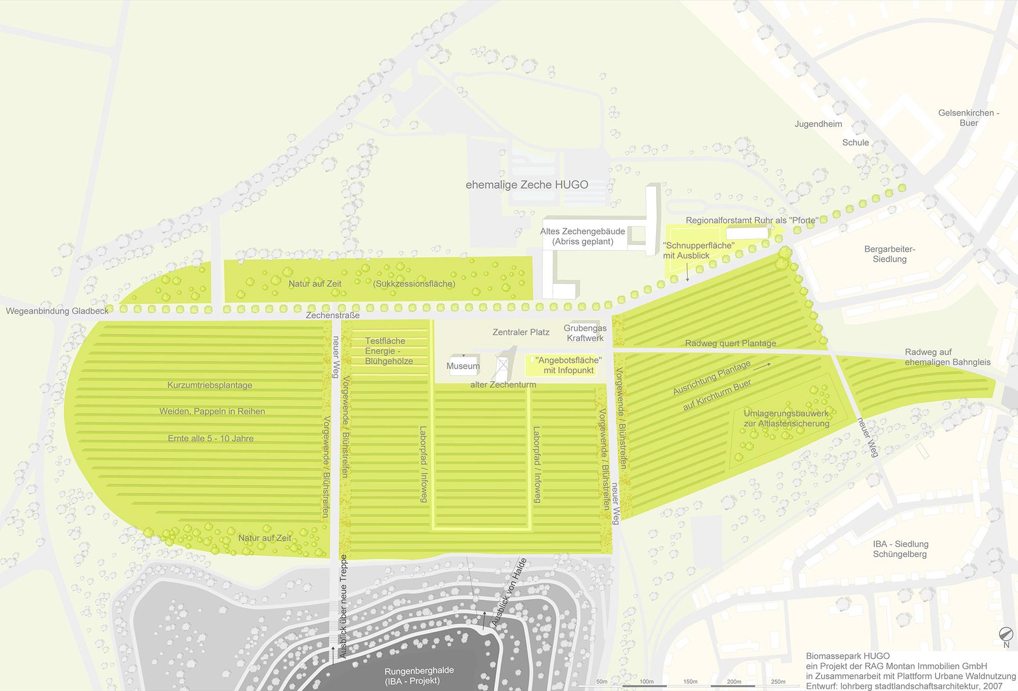 Biomassepark HUGO Entwurf